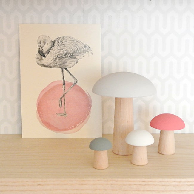 Image of Champignons de Paris Rose/Gris