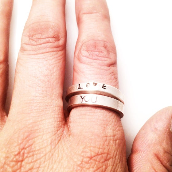 Image of F*CK/LOVE RING SET
