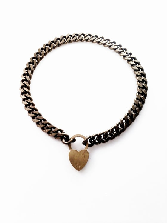 Image of lock my heart away necklace