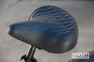 Image of HBBC Quilted Seats in Black with colored stitching