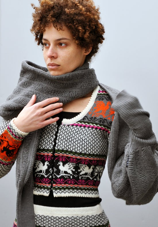 Image of Sleeve scarf gray