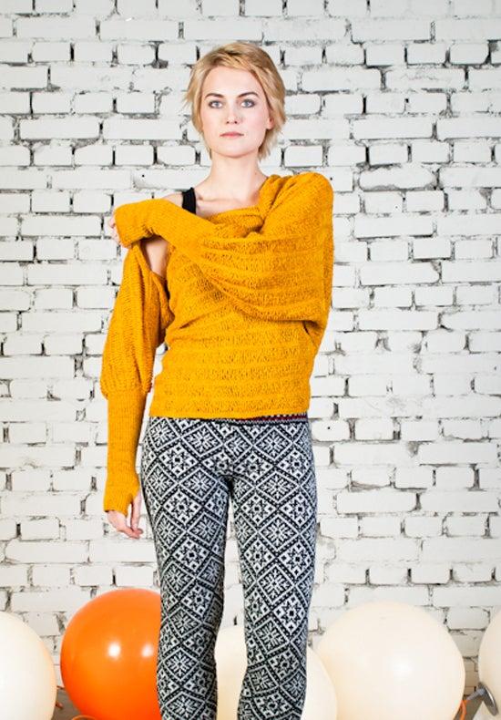Image of Sleeve scarf yellow
