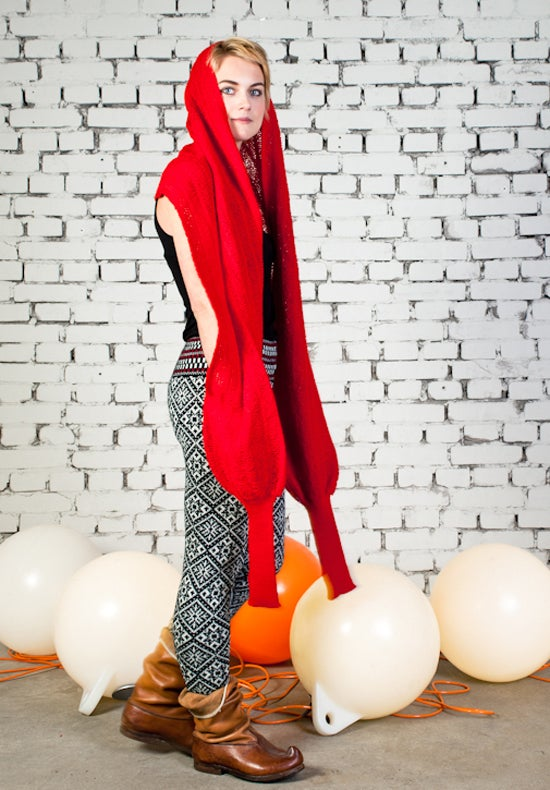 Image of Sleeve scarf red