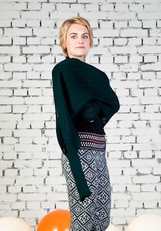 Image of Sleeve scarf forest