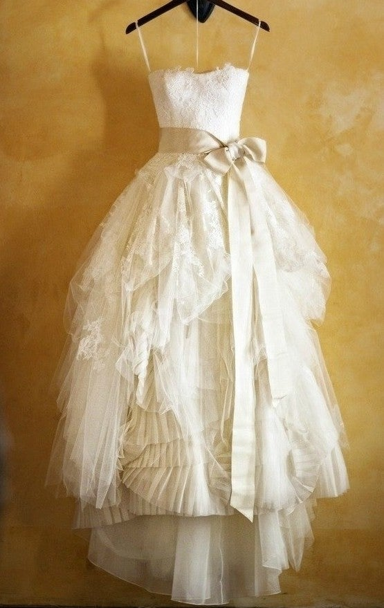 Image of Handmade Lace wedding dresses sash