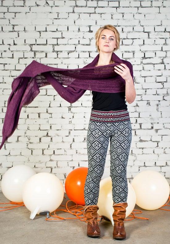 Image of Sleeve scarf plum