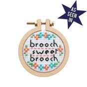 Image of Sampler Brooch cross-stitch kit