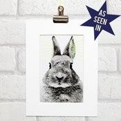 Image of Bunny thread art