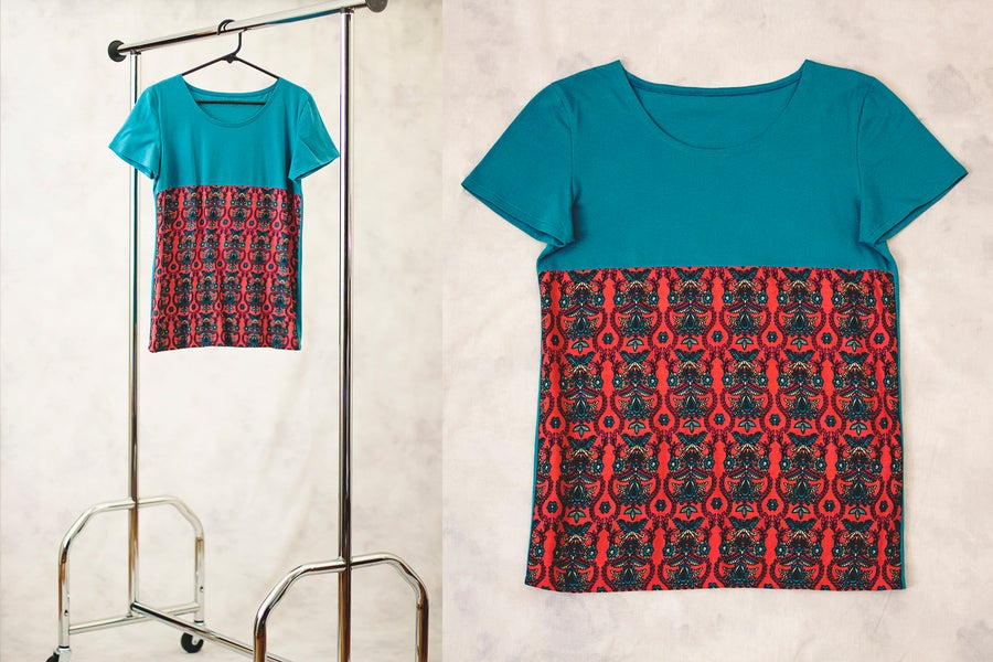 Image of Turquoise Pattern T-Shirt