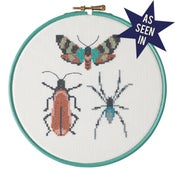 Image of Wine Bug Trio cross-stitch PDF pattern