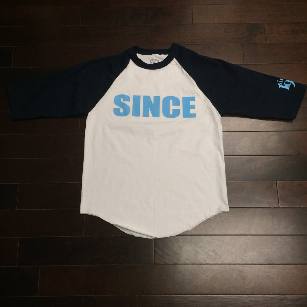 Image of Since Block Logo 3/4 Raglan (Blue logo)