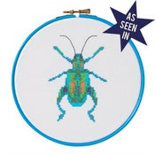 Image of Turquoise Beetle cross-stitch PDF pattern