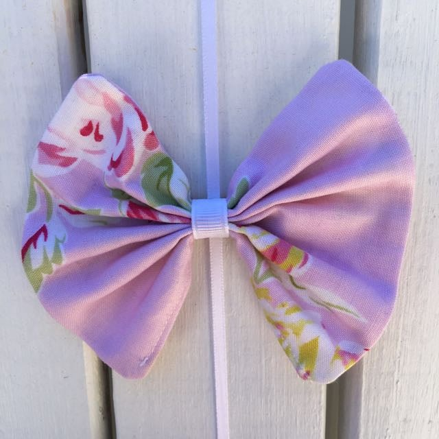Image of Pink Cottage Rose Hair Bow