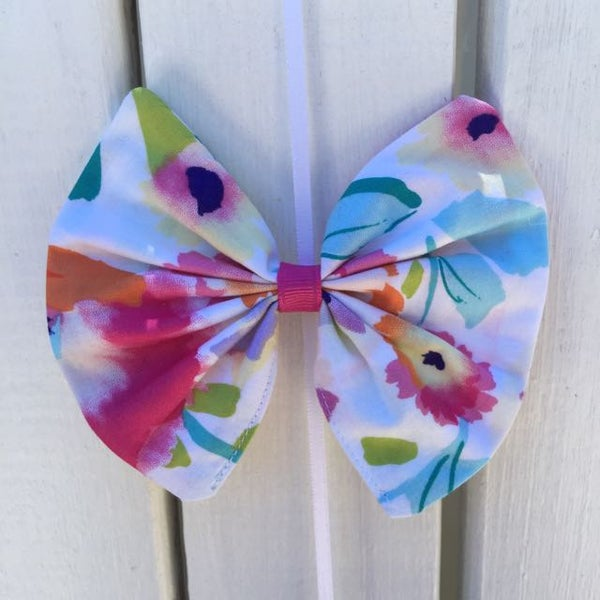 Image of Bright floral Hair Bows