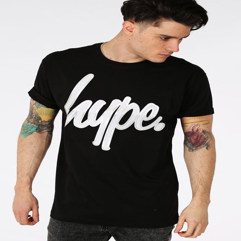 Image of HYPE. METALLIC OUTLINE SCRIPT TEE