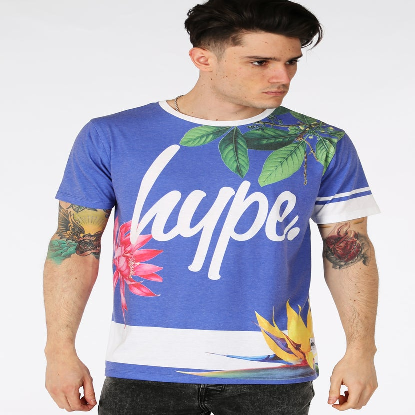 Image of HYPE. BLUE FLORAL STRIPE