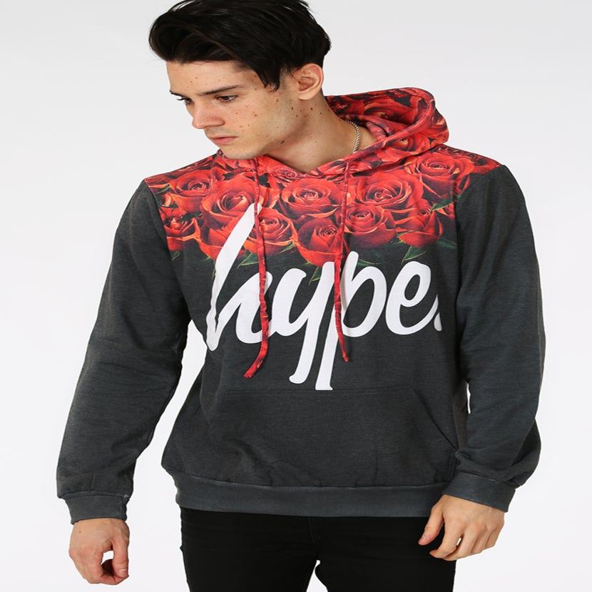 Image of HYPE. ROSES NECK HOOD