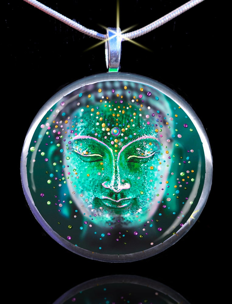 Image of The Jade Buddha Good Luck Energy Pendant