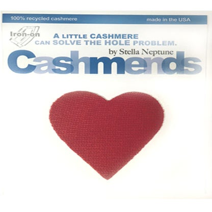 Image of Iron-On Cashmere Heart - Classic Red