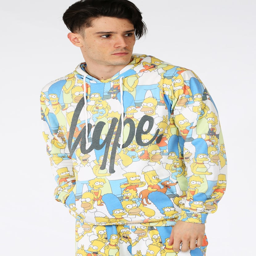 Image of HYPE X SIMPSONS. FAMILY REPEAT HOODIE