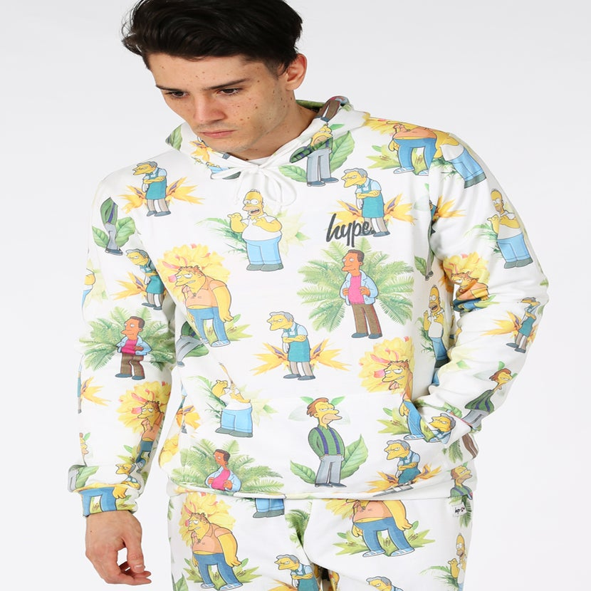 Image of HYPE X SIMPSONS. BAR BOYS FLORAL HOODIE