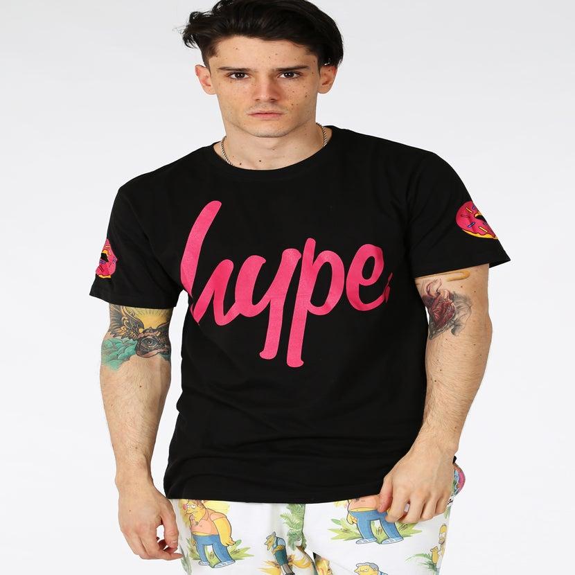 Image of HYPE X SIMPSONS. CHIEF WIGGUM BLACK TSHIRT