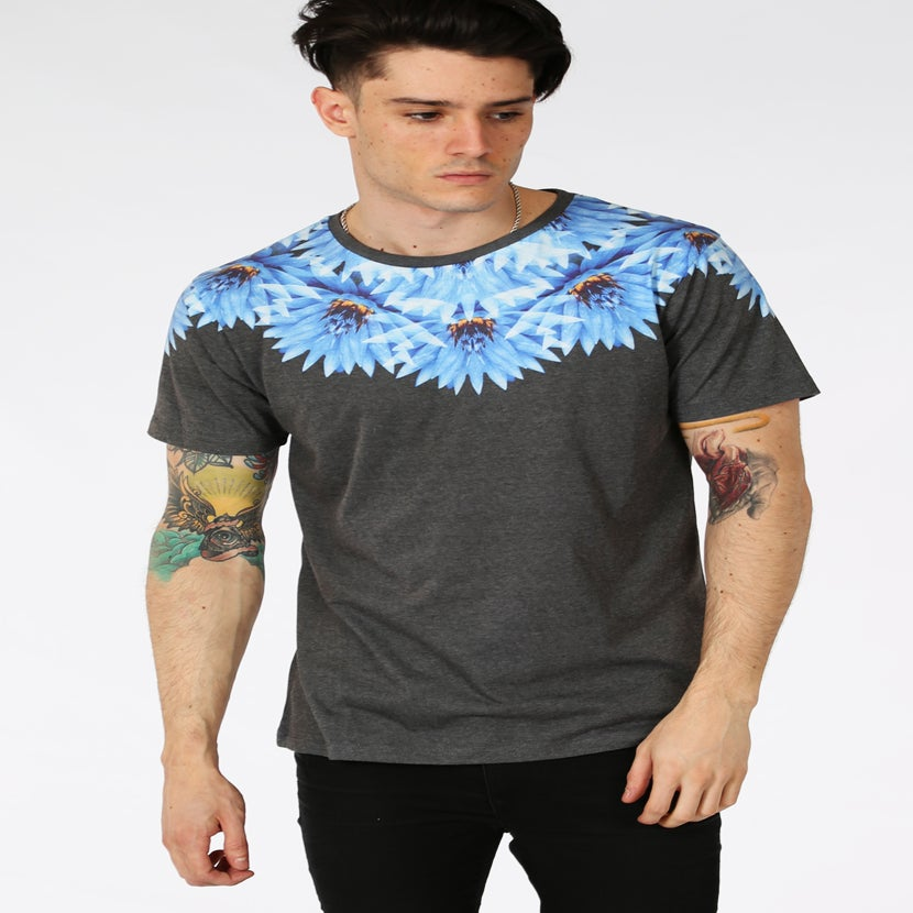 Image of HYPE.ELECTRIC FLOWER NECK TEE