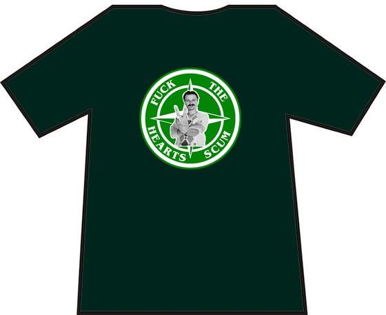 Image of Hibs, Hibernian Fuck The Hearts Scum Begbie T-Shirt