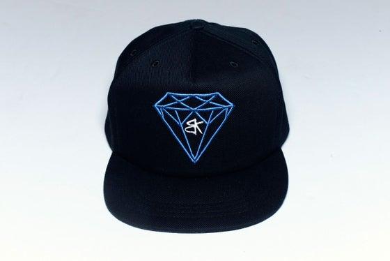 Image of BK Diamond Truckfit Snapback Black/ Blue Embroidered