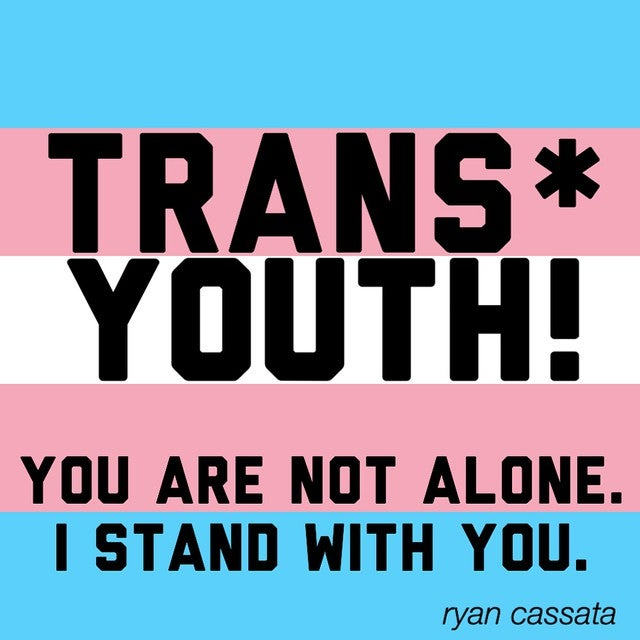 Image of Big Trans* Youth Awareness Sticker