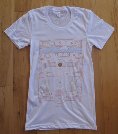 Image of Cedar + Gold Hieroglyphics Tee - White
