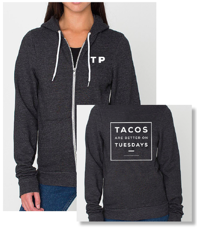 Image of Tacos Are Better On Tuesdays Unisex Hoodie