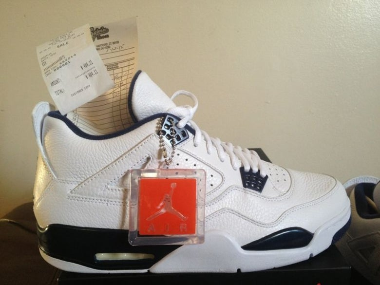 "Image of Retro 4 "" Legend Blue """