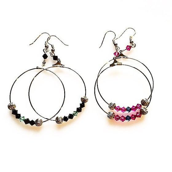 Image of LUCIE Créoles Boucles d'oreilles/Earrings existent en dorée ou argent