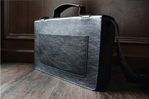 Image of Custom Handmade Leather Briefcase, Messenger Bag Shoulder Bag Men's Handbag D009