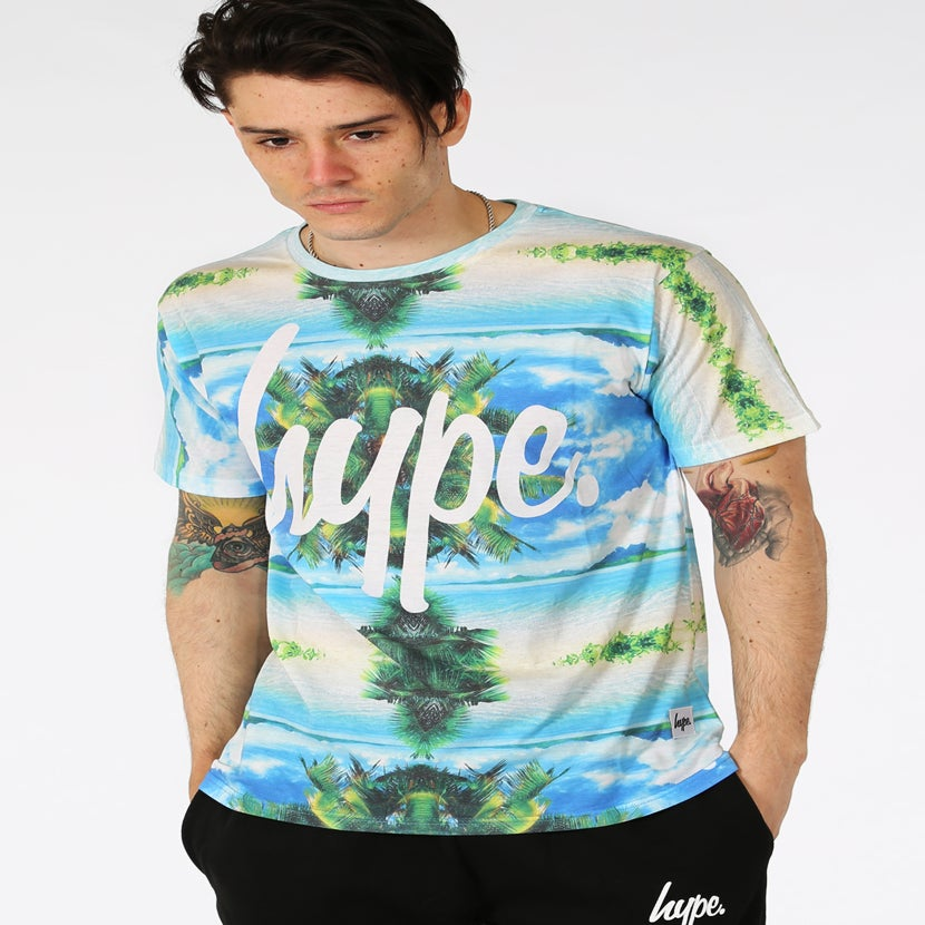 Image of HYPE.TROPICAL PALM T SHIRT