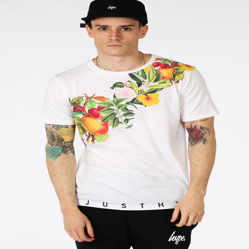 Image of HYPE. SHOULDER FLOWERS TSHIRT