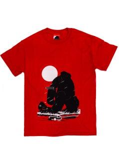 Image of 'Yeti Over Mount Fuji Hong Kong Crimson Red' Tee