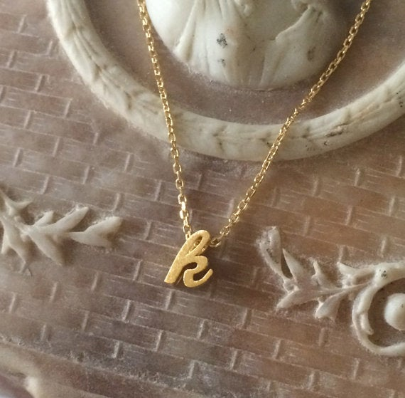 Image of Script Initial Necklace