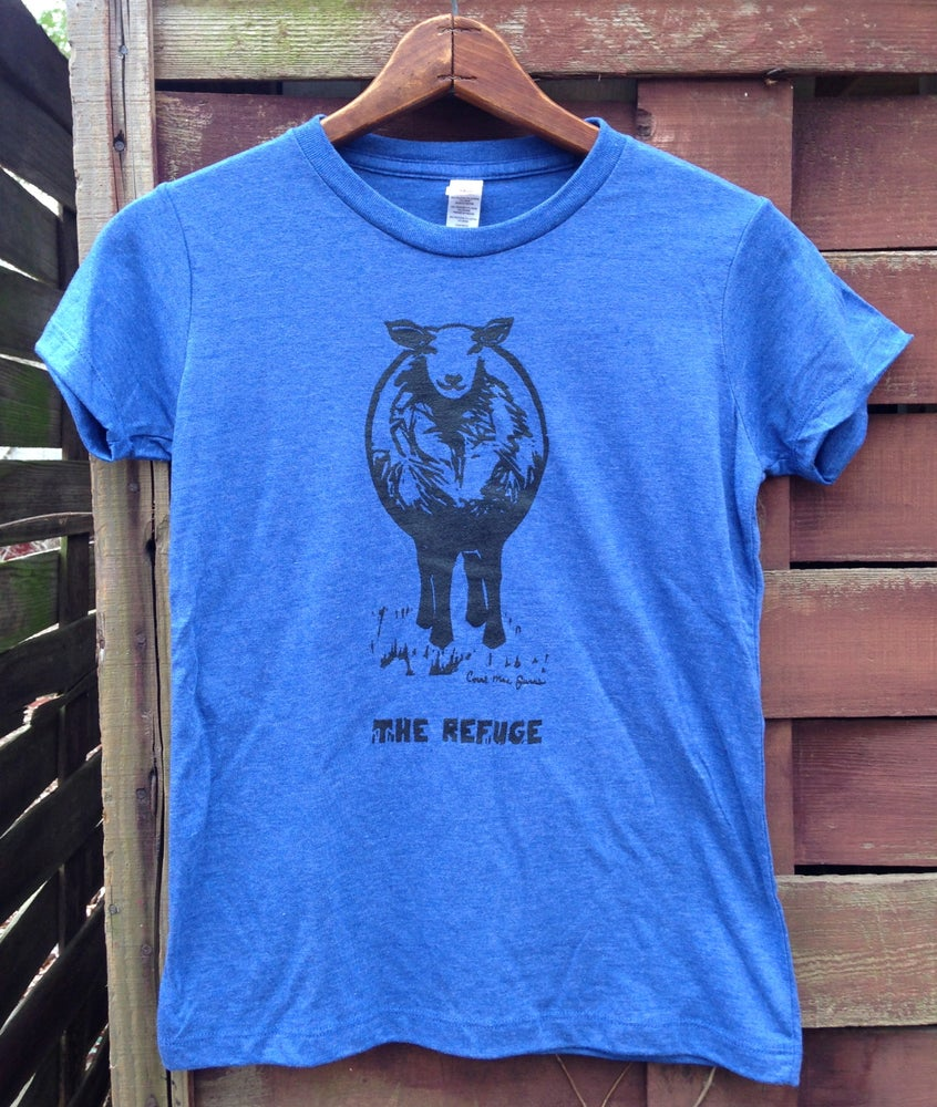 Image of Men | short sleeve, heather blue, Sheep logo