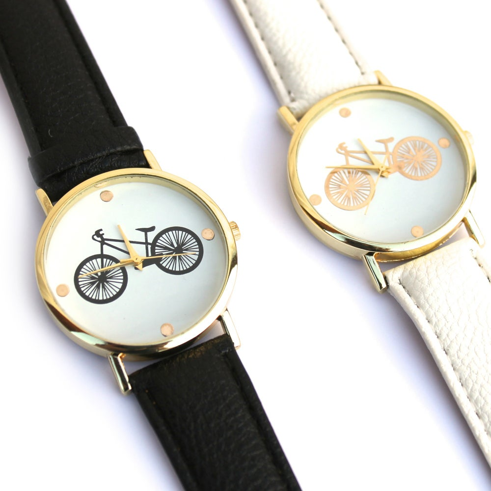 Image of GOLD ACCENT BICYCLE WATCH