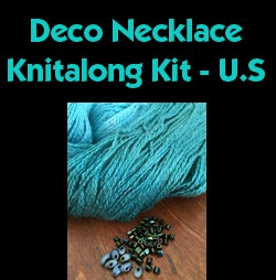 Image of Blue/Green Deco Knitalong Kit - U.S.