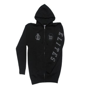 "Image of IMPRM x WEKFEST ""Obsolete"" Reflective Zip Hoody (Black)"