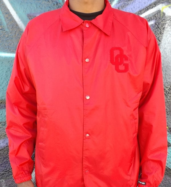 Image of THE OG SELFIE COACHES JACKET (RED)