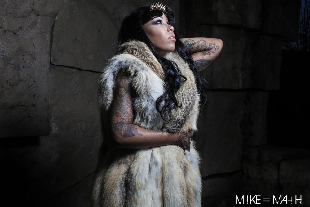 Image of Vintage Fox Fur and Rabbit Fur Trench Vest