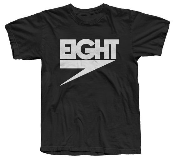 Image of Electric Eight Tee (White/Black)