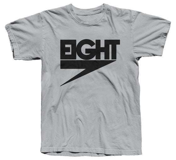 Image of Electric Eight Tee (Black/Silver)