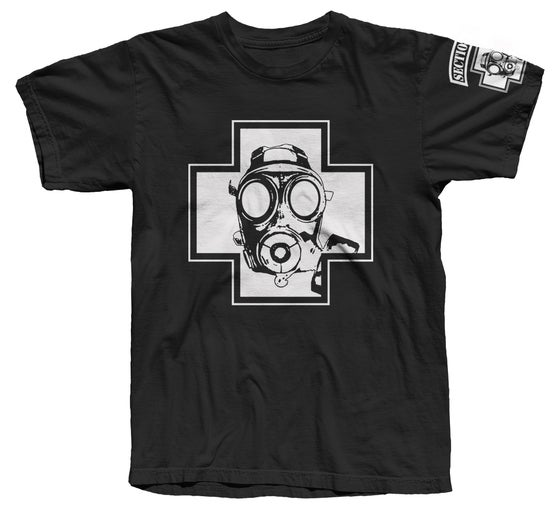 Image of Gas Mask Tee (White/Black)