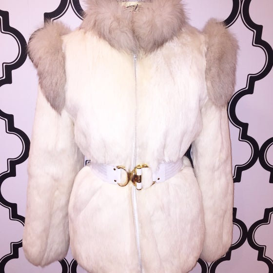 Image of Vintage Fancy Rabbit Fur Coat