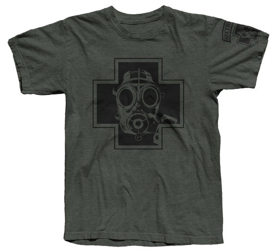 Image of Gas Mask Tee (Black/LT)